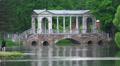 Marble bridge. Pushkin. Catherine Park. Tsarskoye Selo. 4K. Footage
