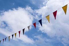 Flag adorns of festival Stock Photos