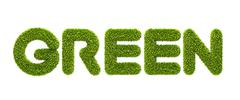 "symbolic grassy word ""green"" - stock photo"