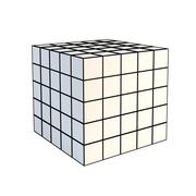 Faceted white 3d cube Stock Photos