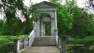 Marble bridge. Pushkin. Catherine Park. Tsarskoye Selo. 4K. Stock Footage