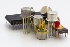 Semiconductor components Stock Photos