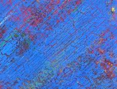 abstract acrylic painting with messy colorful stains - stock illustration
