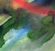 Stock Illustration of abstract gouache painting with messy colorful stains