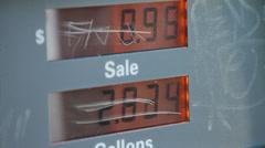 GAS PUMP METER Stock Footage