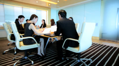 Conference Meeting Young Asian Chinese Corporate Business Team - stock footage