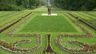 Sunny meadow. Pushkin. Catherine Park. Tsarskoye Selo. 4K. Stock Footage