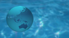 3DCG Earth and water background Stock Footage