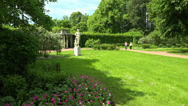 The garden near the Kagul obelisk. Pushkin. Catherine Park. Tsarskoye Selo. 4K. Stock Footage