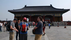 Chinese in the temple of heaven in the beijing china Stock Footage