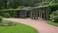 The garden near the Kagul obelisk. Pushkin. Catherine Park. Tsarskoye Selo. 4K. Footage
