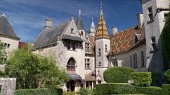 Le Chateau de La Rochepot - Rochepot, France Stock Footage