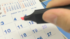 calendar mark for holiday - stock footage