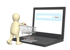Virtual shopping Stock Illustration
