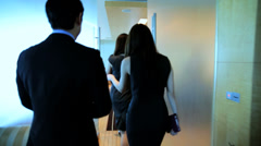 City Boardroom Asian Chinese Business Finance Teamwork Meeting - stock footage