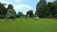 Stock Video Footage of The garden near the Kagul obelisk. Pushkin. Catherine Park. Tsarskoye Selo. 4K.