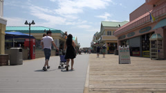 Boardwalks, Beaches, Tourist Spots, Tourists Stock Footage