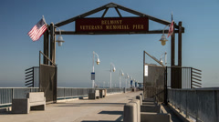 Belmont Memorial Pier Time Lapse Video Stock Footage