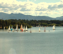 Stock Video Footage of SAILBOATS TIME LAPSE CANBERRA