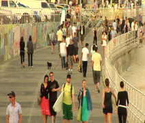 BONDI BEACH PEOPLE TIME LAPSE Stock Footage