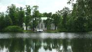 Stock Video Footage of Hall on the island. Pushkin. Catherine Park. Tsarskoye Selo. 4K.