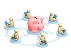 Virtual bank accounts Stock Illustration