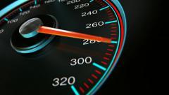Stock Video Footage of speedometer accelerate pan 2