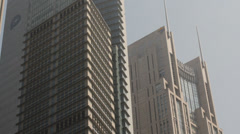 Detail of High Rise Buildings in Shanghai Pudong Stock Footage