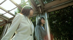 Young American Asian Chinese Girls Business Financial Executives - stock footage