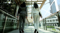 Downtown Asian Chinese American Businesswomen Financial Executive - stock footage