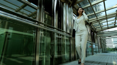 American Asian Chinese Girl Business Financial Executive Smart Phone Client - stock footage