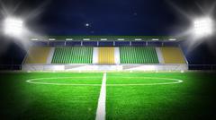 Soccer stadium night Stock Illustration