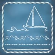 Nautical rope borders Stock Illustration