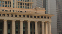 Detail of Financial Building in Shanghai Pudong Stock Footage