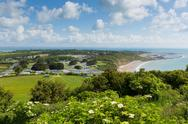 Stock Photo of Whitecliff Bay near Bembridge east Isle of Wight