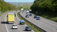 Stock Video Footage of Traffic travelling on the M54 motorway, Shropshire, England.