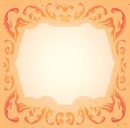 Tender pale colored frame with floral ornament Stock Illustration