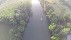 2.7K AERIAL SHOT OF A RIVER (STRAIGHT  DOWN) Stock Footage