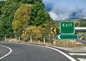 Stock Photo of Exit Road Sign, Fillable