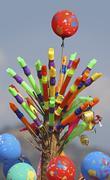 Plastic Flute vendor, India Stock Photos