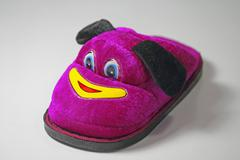 Soft Velvet Cartoon Indoor Slippers - stock photo