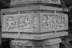 Carving at Shri bhiravnath Temple - stock photo