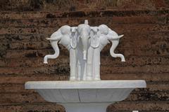 Stock Photo of Fountain at Shri Shantadurga Temple, Fatarpekar, Goa, India