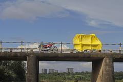 Vehicles on Bridge - stock photo