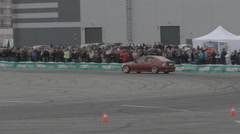 Race car on the track - stock footage