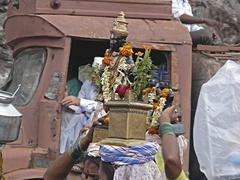Pandharpur yatra , people performing pooja, Maharashtra, India Stock Photos
