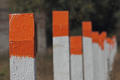 Stock Photo of Cement Pillar Fence