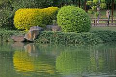 Japanese garden in pune city, Maharashtra, India Stock Photos