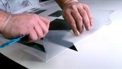 Auto Custom Tuning Car Vinyl Wrap 03 Stock Footage