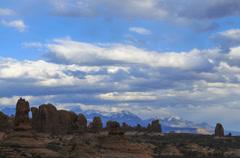 Garden of eden arches national park timelapse Stock Footage